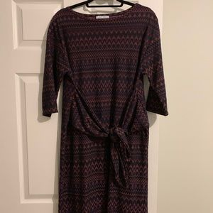 Zara printed tie dress